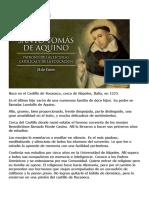 Biografía y Oraciones a Santo Tomás de Aquino