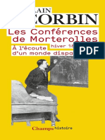 Les Conferences de Morterolles - Alain Corbin