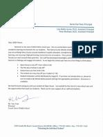 Signed Welcome Back Letter