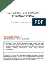 Mutu & Standar Pelayanan Prima