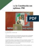 17-07-2018 Reformas a La Constitución Son Lícitas y Legítimas Pri