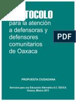 Protocolo EDUCA defensa comunitaria