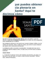 Sabías que puedes obtener indulgencia plenaria en Semana Santa.doc