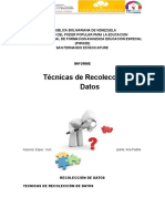 Informe Tecnicas de Recoleccion de Datos Ana Padilla