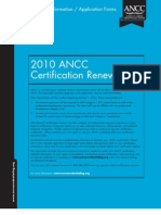 ANCC Application & Directions for Renewal of Certification