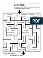 Perfect Tenses Maze