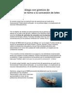 MEM inició diálogo con gremios de pescadores en torno a la concesión de lotes petroleros.docx