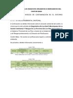 Informe Sobre Los Desechos Organicos e Inorganicos Del Canton Baba