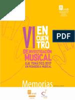 Mem VI Encuentro Investigacion Musical