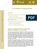 Digital Literacy in Education