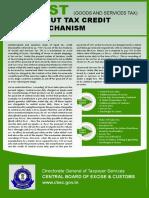 Input Tax Credit Mechanism
