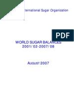 World Sugar Balance - Sample