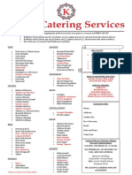 Karl's Catering Services Menu