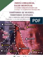 Díptico jornadas Territorios de Mujeres Territorios Ocupados MUNDUBAT