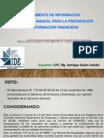 Reglamento de Información Financiera y Manual Para La Preparación de Información Financiera