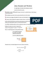 Oscillations-Dynamics and Vibrations