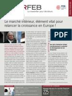 Le marché intérieur, élément vital pour relancer la croissance en Europe !, Infor FEB 31, 30-09-2010