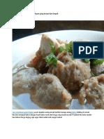 Cara Membuat Pentol Bakso Ayam Yang Kenyal Dan Empuk