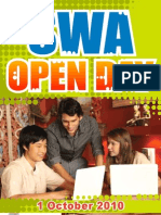 Open Day Flyer - 1 October 2010