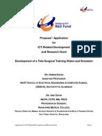 TR&D Proposal TeleSurgical Robot Simulator