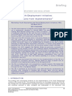 Youth Employment Initiative - Lessons From Implementation, 2017