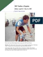 1985 Vuelta a España