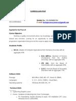 Narayanarao Resume