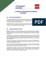 Prospective Student Information Sheet-Syria