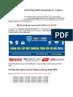 Lắp Đặt Camera Tại Đà Nẵng 2018