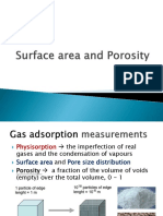 Surface area and porosity
