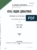 123925555 Vladan Djordjević Kraj Jedne Dinastije 1 Knjiga 1897 1898