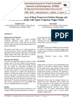 To Compare the Efficacy of Deep Transverse Friction Massage and Ultrasound in Patients with Upper Trapezius Trigger Points