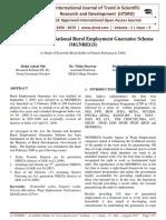 Mahatama Gandhi National Rural Employment Guarantee Scheme