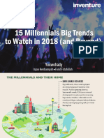 E-book - 15 Millennials Big Trends to Watch in 2018 (and Beyond) - Inventure