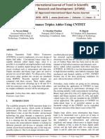 High Performance Triplex Adder using CNTFET