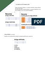 los articulos en portugues