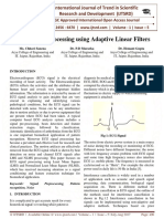 ECG Signals Processing using Adaptive Linear Filters