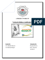A Project Work on Clean India Campaign