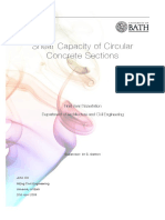 Shear Capacity of Circular Sections Online