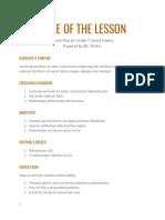 Lesson Plan II