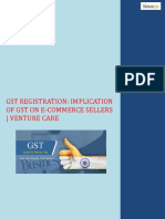 GST Registration Implication of GST on E-Commerce Sellers Venture Care