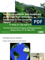 'Saving the endemic and threatened gumwoods from extinction