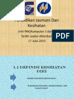 Pendidikan Jasmani Dan Kesihatan