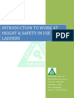 Introduction to Work at Height Safety in Use of Ladders
