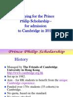Prince Philip Scholarship