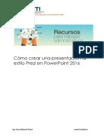 Crear Una Presentacion Al Estilo Prezi en Powerpoint 2016 Huallanca