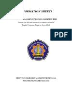 information sheets  1