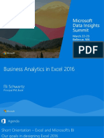 Business Analytics in Excel 2016