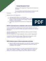 Strategic Management Project1