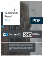 Comm100 Live Chat Benchmark Report 2018